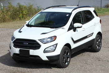 front angle of Ford EcoSport Graphics FLYOVER KIT 2018-2020