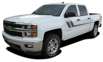 front of 2018 Chevy Silverado Bed Side Stripes TRACK XL 2013-2016 2017 2018