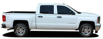 side of Chevy Silverado Upper Body Graphic Stripes ELITE 3M 2013-2018
