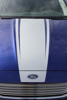 close up of Ford Fusion Hood Decals DAGGER HOOD 2013-2017 2018