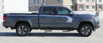 side of 2019 Toyota Tacoma Side Door Stripes STORM 2015-2020