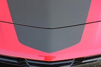 close view of 2019 Camaro Hood Vinyl Decals SHOCK HOOD 2019-2020 | FCD