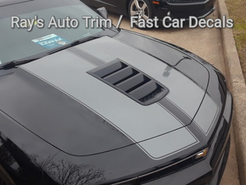 front angle of Chevy Camaro SS Super Sport Stripes S-SPORT PACKAGE 2014-2015