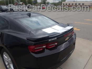 rear angle of 2019 Chevy Camaro Center Stripes REV SPORT 2019-2020