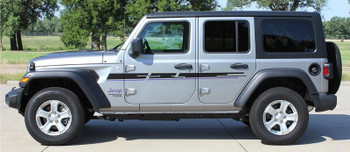 side of 2019 Wrangler Side Stripes MOJAVE SIDE KIT 2018-2020