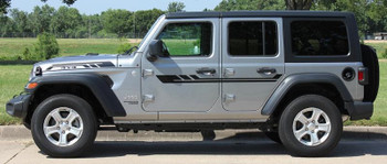 side of 2019 Jeep Wrangler Decals BYPASS and ACCENTS 2018-2020 2021