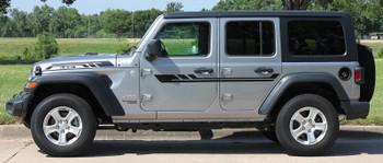 side of 2019 Jeep Wrangler Stripes BYPASS SIDE KIT 2018-2020