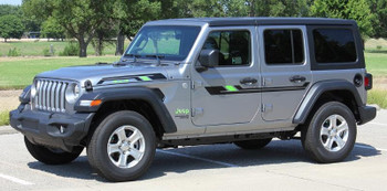front angle of 2017 Jeep Wrangler Graphics BYPASS and ACCENTS 2018-2020