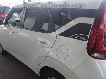 side of white 2020 Kia Soul Graphics SOULPATCH 20