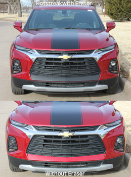 front of ERASER BUMPER GRAPHIC | 2019-2020 Chevy Blazer Front Bumper Stripes