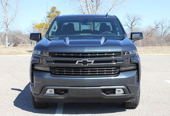 front of 2020 Chevy Silverado Hood Stripes 1500 HOOD SPIKE 2019-2021