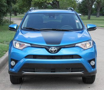 front of RAVAGE HOOD | 2018 Toyota Rav4 Hood Stripes 2016 2017 2018