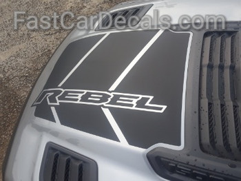 top view of 2020 Ram 1500 Rebel REB HOOD Graphics 2019-2021