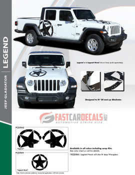 flyer for LEGEND HOOD KIT : 2020-2021 Jeep Gladiator Hood Decals Package