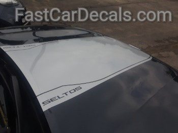 side of 2020-2021 Kia Seltos Hood Stripes SELTOS HOOD KIT