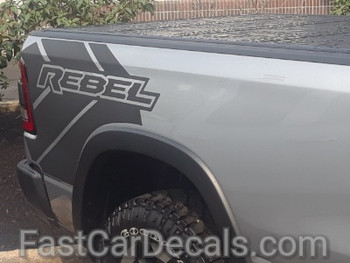 profile of 2019 Ram Rebel Side Stripes 2019-2021 REB SIDE