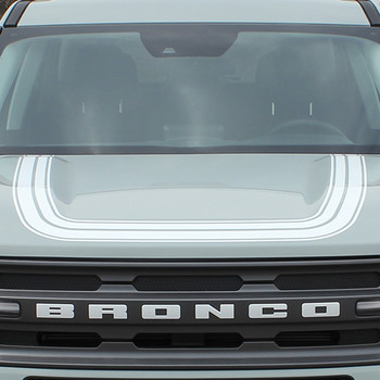 NEW 2021 Ford Bronco Hood Stripe Decals REVIVE HOOD All Models