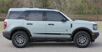 side of NEW! Ford Bronco Side Door Stripes BREAK ROCKER 2021+ All Models
