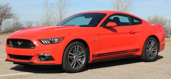 side view of 2017 Mustang GT Rocker Fading Stripes 15 BREAKUP 2015-2017