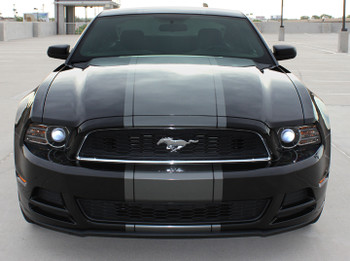 front view BEST! 2013-2014 Ford Mustang Center Wide Stripes VENOM KIT