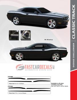 flyer for 2017 Dodge Challenger Side Stripes CLASSIC TRACK 2008-2020