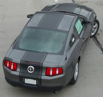 top rear 2010 2011 2012 ford mustang pony center decals PONY CENTER