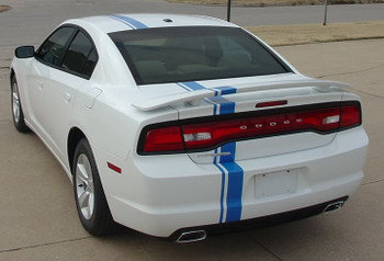 rear angle of 2013 Dodge Charger Euro Stripes E RALLY 2011 2012 2013 2014