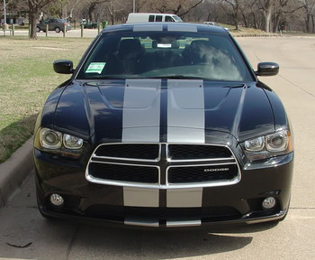 front view of 2014 Dodge Charger Stripes N CHARGE RALLY 2011 2012 2013 2014 Call 812-725-1410