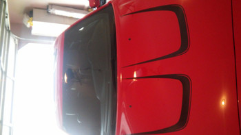 front hood view 2013 Dodge Charger Decals Body Kit C STRIPE 2011-2014