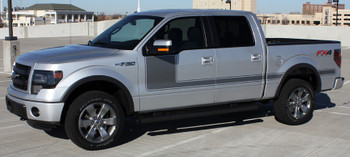 profile silver 2018 Ford F150 Decals FORCE 1 2009-2018 2019 2020 2021