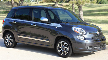 front angle Fiat 500L Upper Side Stripes SIDEKICK 2014 2015 2016 2017 2018