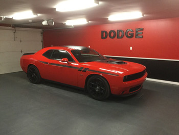 side of orange 2018 Dodge Challenger Graphics FURY 2011-2021