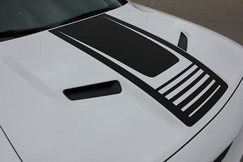 hood view FAST! Dodge Challenger Hood Stripes CUDA STROBE 2008-2020