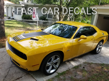 Dodge Challenger Side and Hood Decals  CUDA STROBE 2011-2021