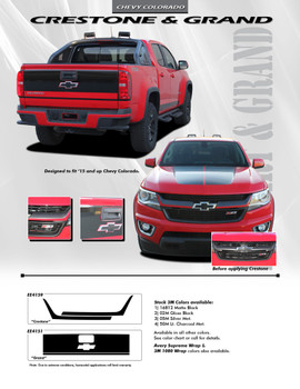 flyer for Chevy Colorado Front Stripes CRESTONE GRILL 2015 2016 2017 2018 2019 2020