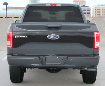 Rear of 2016 Ford F150 Tailgate Decal ROUTE TAILGATE 2015-2020