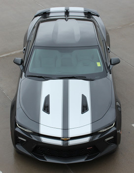 front high view 2017 Chevy Camaro Racing Stripes CAM SPORT PIN 2016-2018