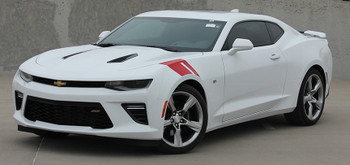 front angle view Chevy Camaro Hood HASH MARKS Stripes 2016 2017 2018