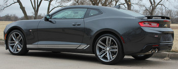 driver side 2016 2017 2018 Camaro TREAD ROCKERS : Chevy Camaro Lower Rocker Panel Door Stripes Vinyl Graphics and Decals Kit (fits ALL MODELS)