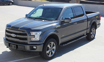 front angle of 2018 Ford F150 Center Decals BORDELINE 2015-2019 2020