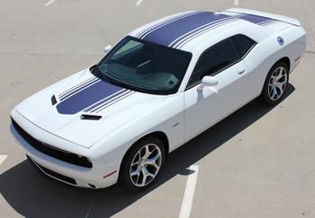 front angle 2020 Dodge R/T Challenger Stripes SHAKER 2015-2018 2019 2020 2021