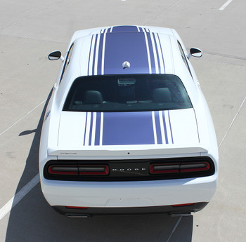 top rear view 2020 Dodge R/T Challenger Stripes SHAKER 2015-2018 2019 2020 2021