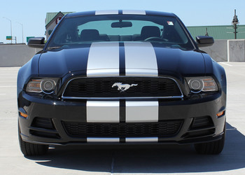 front view 2013-2014 Ford Mustang Racing Stripes Decals THUNDER KIT