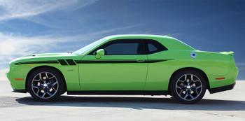 side of green NEW! RT, SRT, Hellcat Dodge Challenger Side Stripes FURY 2011-2021