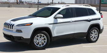 front of white profile of 2018 Jeep Cherokee Stripes CHIEF 2014-2018 2019 2020