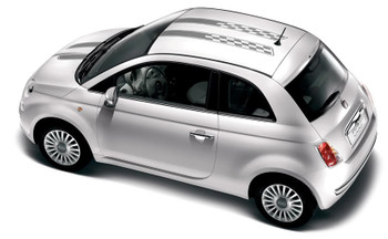 profile Fiat 500 Hood and Roof Stripes 3M CHECKERED RALLY 2012-2018