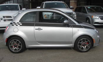 profile of Fiat 500 Custom Side Stripe Graphics SE5 CHECK 2012-2019
