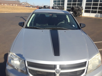 front of Dodge Avenger Racing Stripes AVENGED 2008-2013 2014