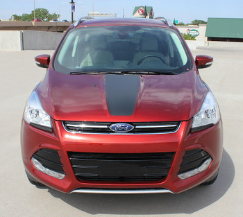 front view Ford Escape Hood Stripes CAPTURE HOOD 2013-2016