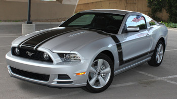 front angle of 2013 Ford Mustang Side Hood Stripes 3M PRIME 1 2013-2014